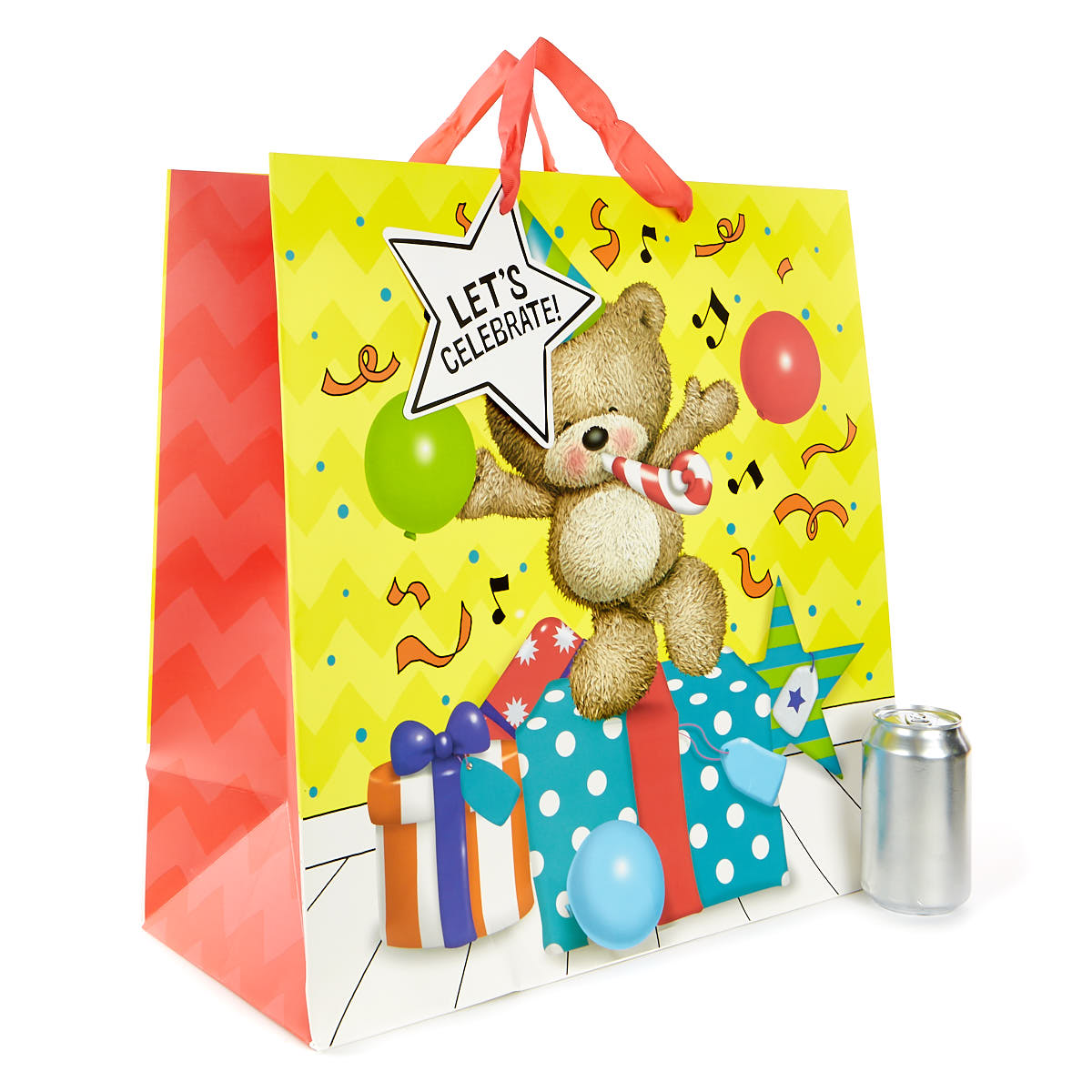 Extra Large Hugs Bear Let's Celebrate Gift Bag