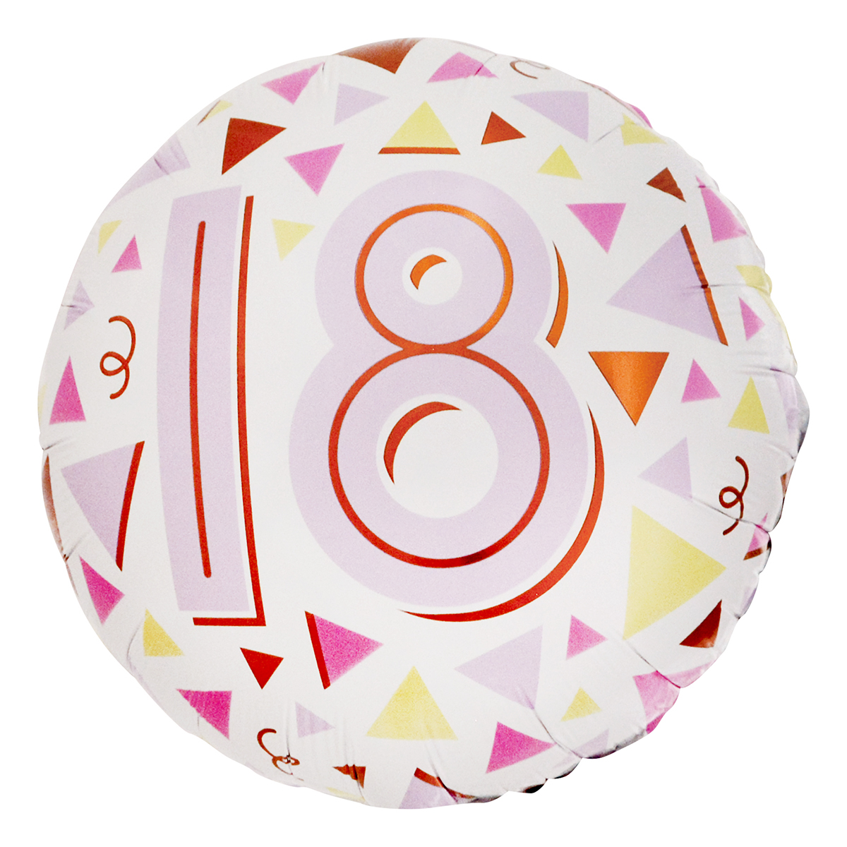 Pastel Triangles 18th Birthday 18-Inch Foil Helium Balloon