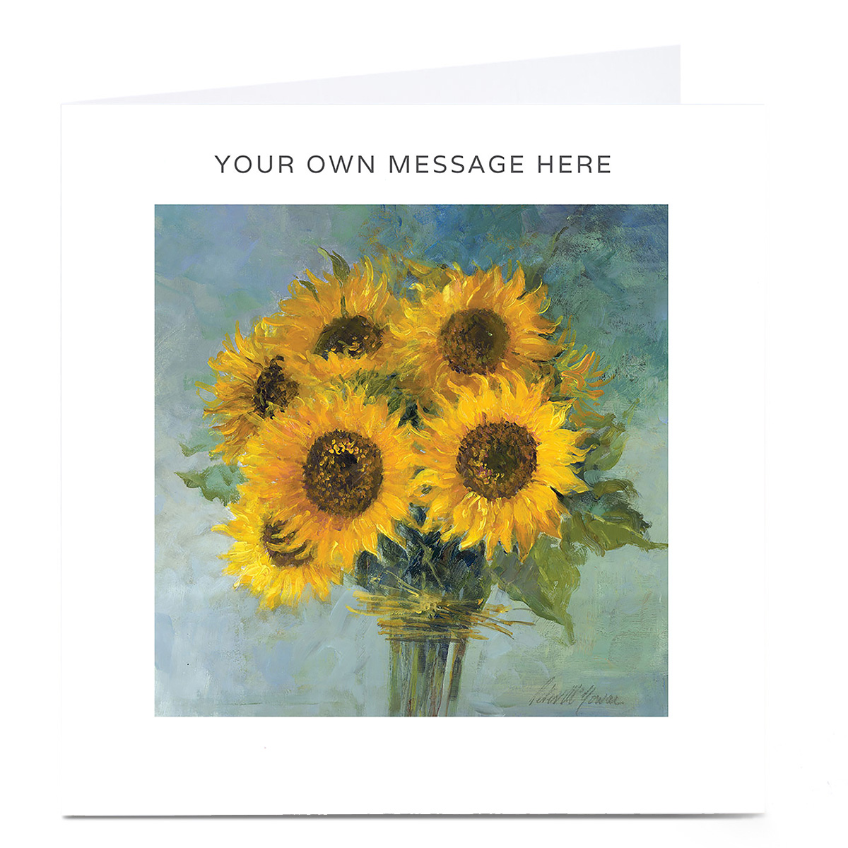 Personalised Card - Sunflowers
