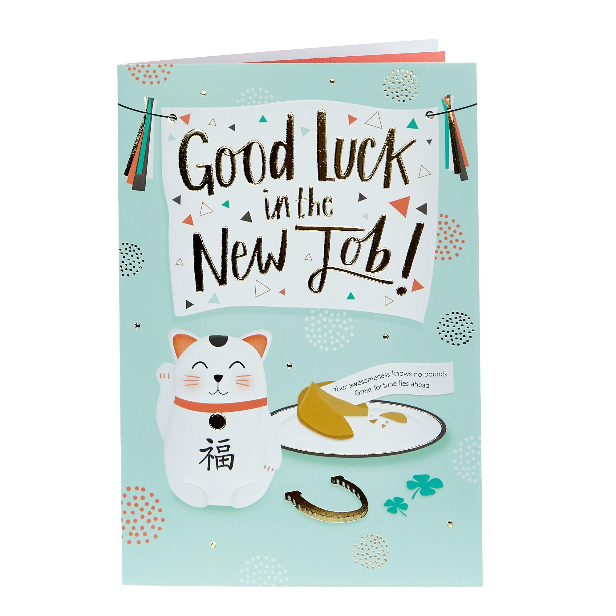 buy new job card  good luck for gbp 099  card factory uk