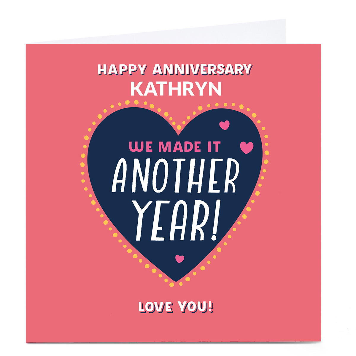 Personalised Larger than Life Anniversary Card - Another Year