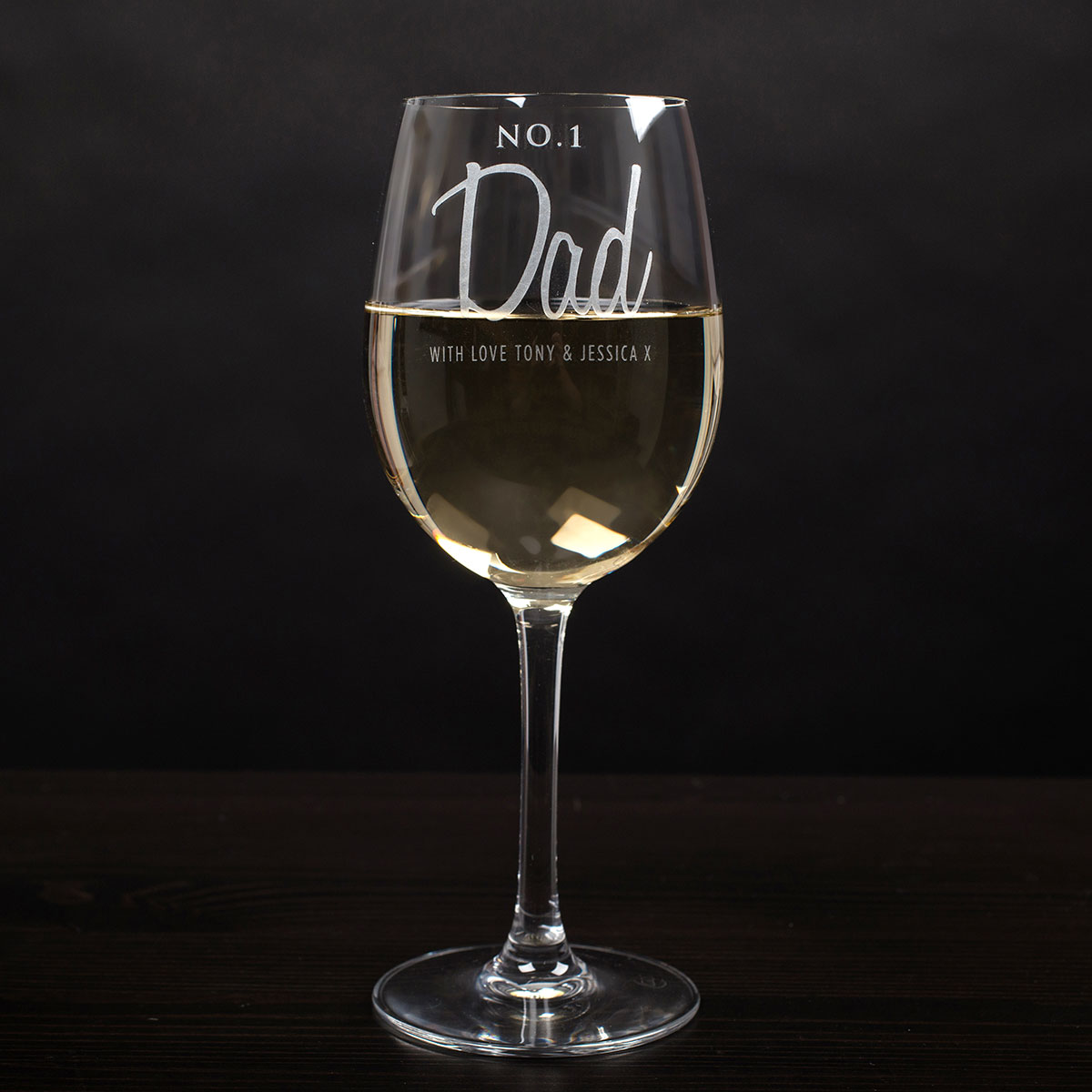 Personalised No1 Dad Wine Glass