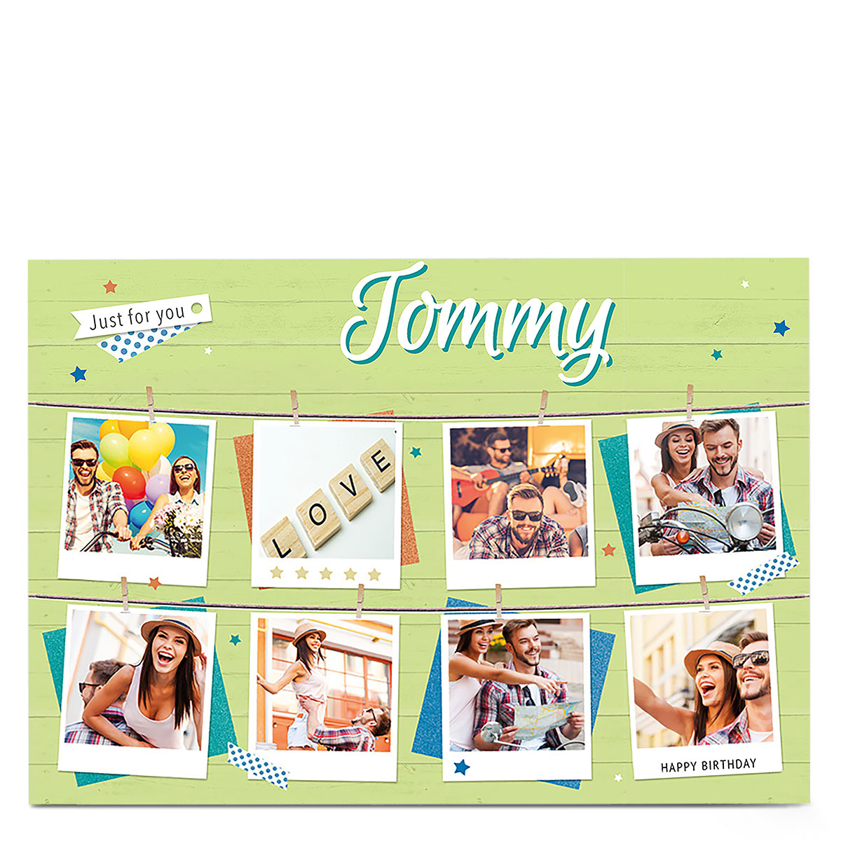 Multi Photo Card - Green Just For You