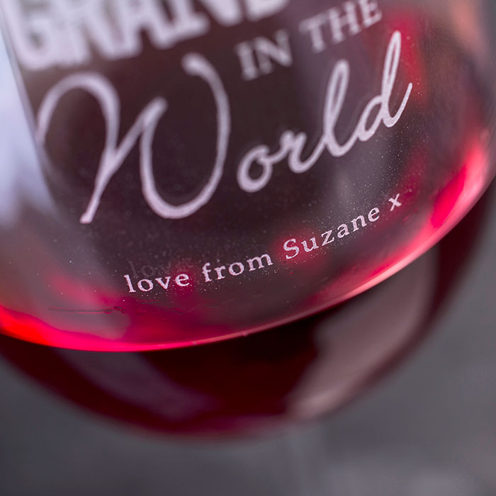 Personalised Best Grandma In The World Wine Glass
