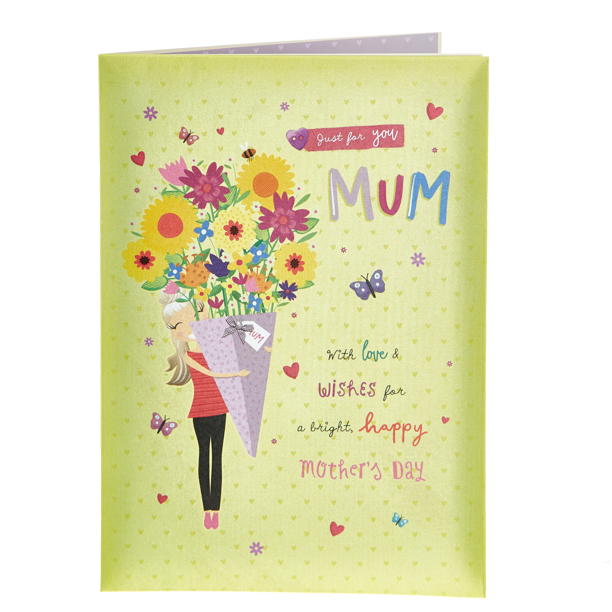 Satin Collection Mother's Day Card - Just For You Mum