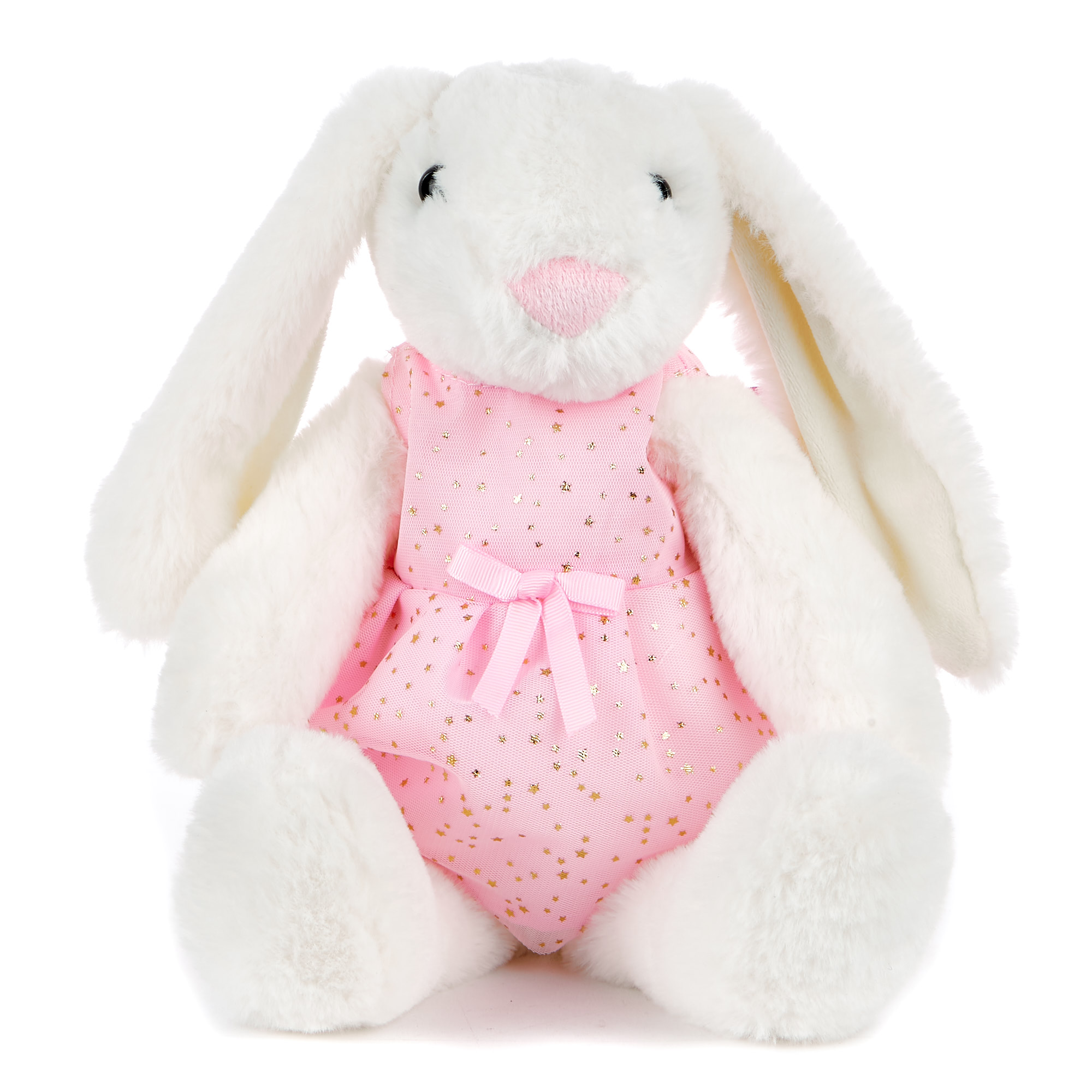 Rabbit In A Dress Soft Toy