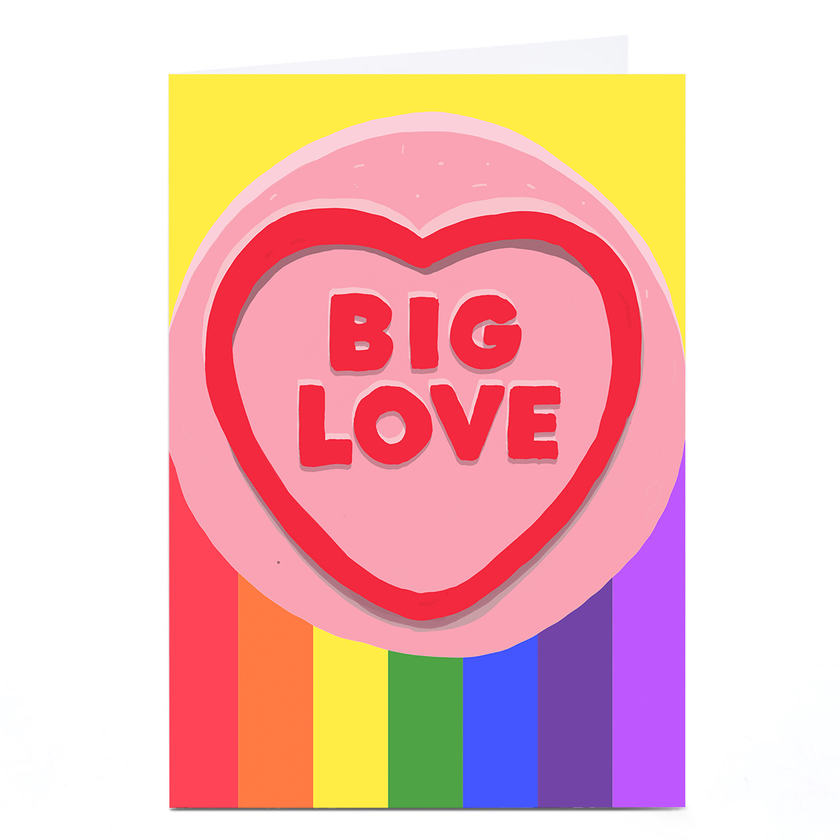 Personalised Jolly Awesome Card - Big Love Rainbow