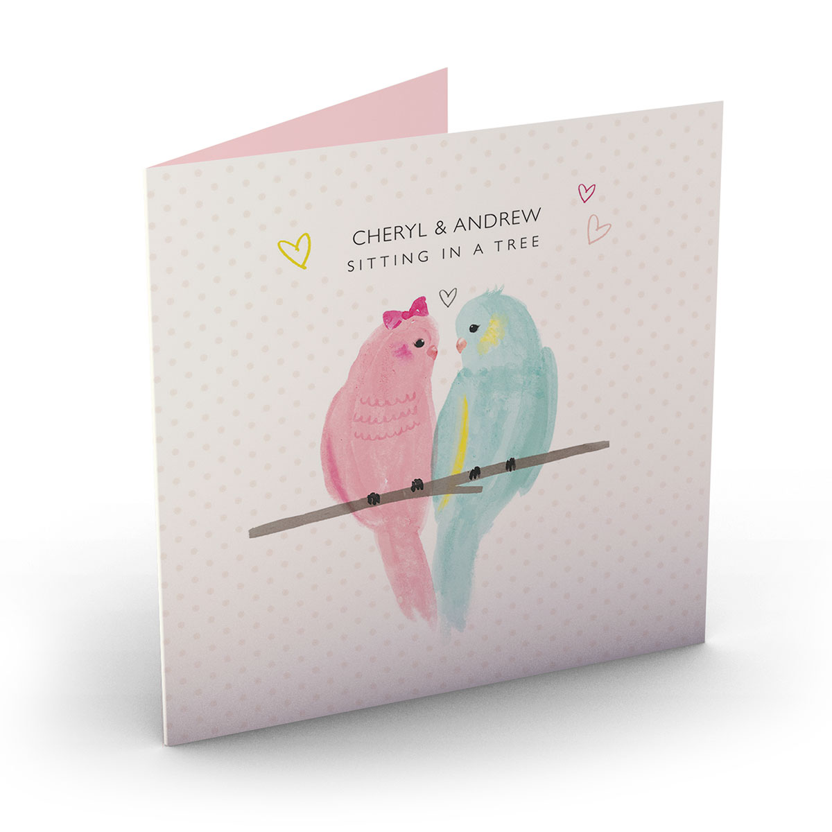Personalised Card - Love Birds
