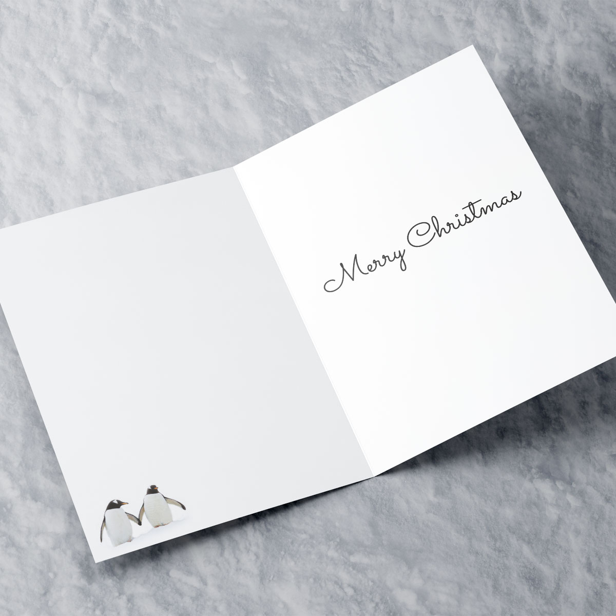 Personalised Christmas Card - Penguins - Sister and Brother-In-Law