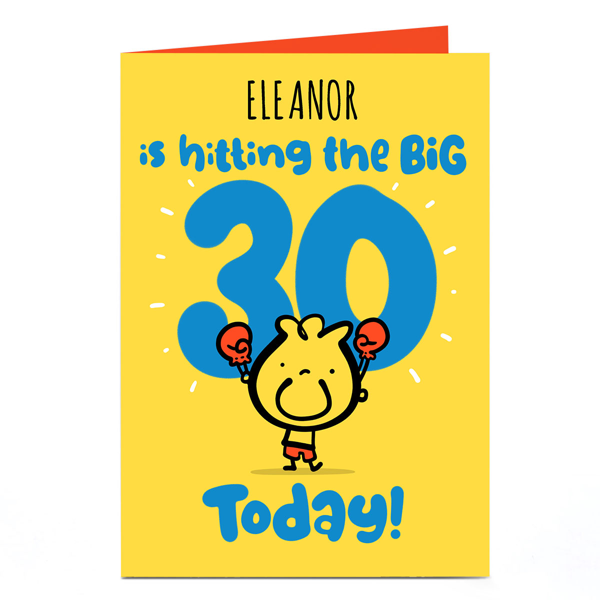 Personalised Fruitloops 30th Birthday Card - Hitting The Big 30