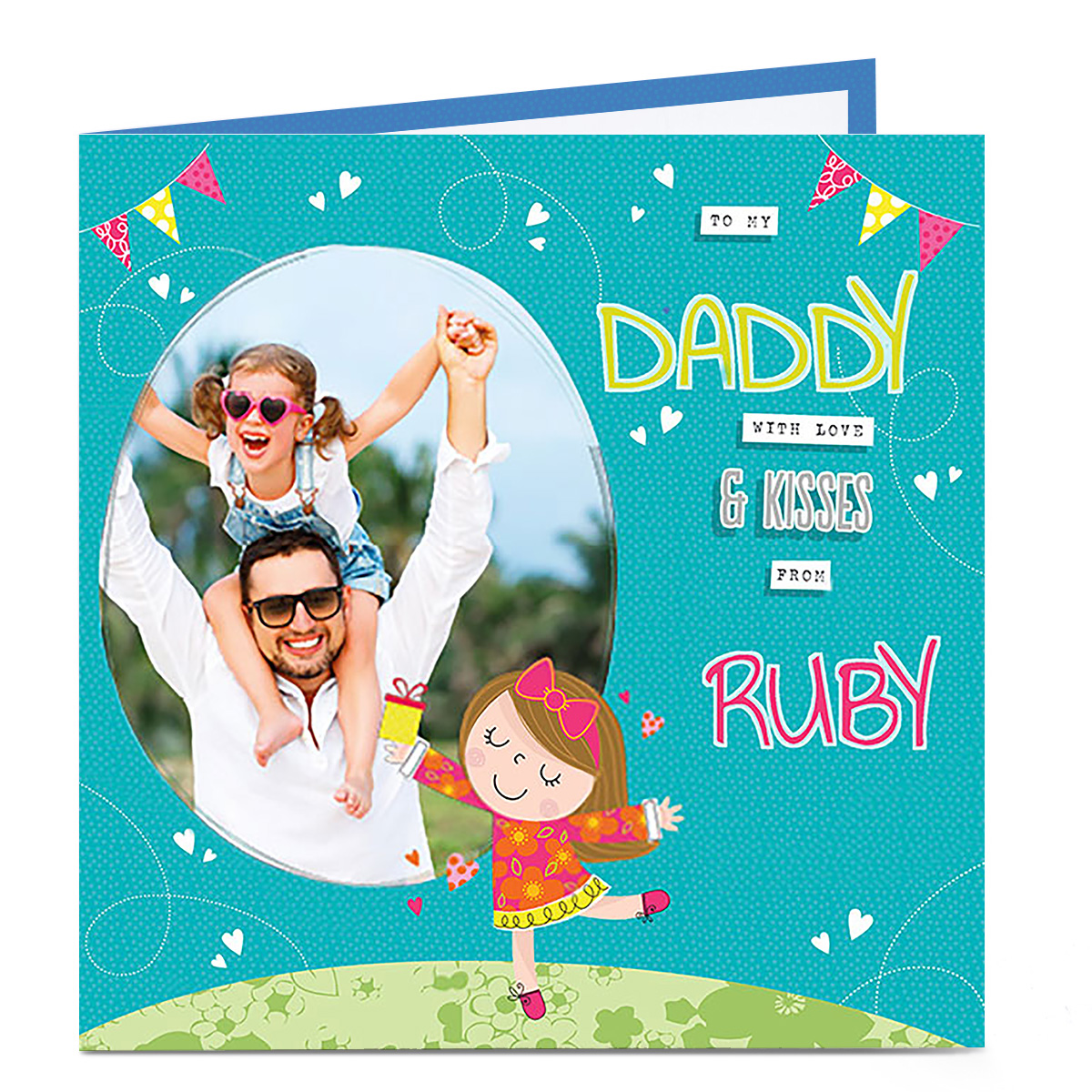 Personalised Birthday Photo Card - From their little girl