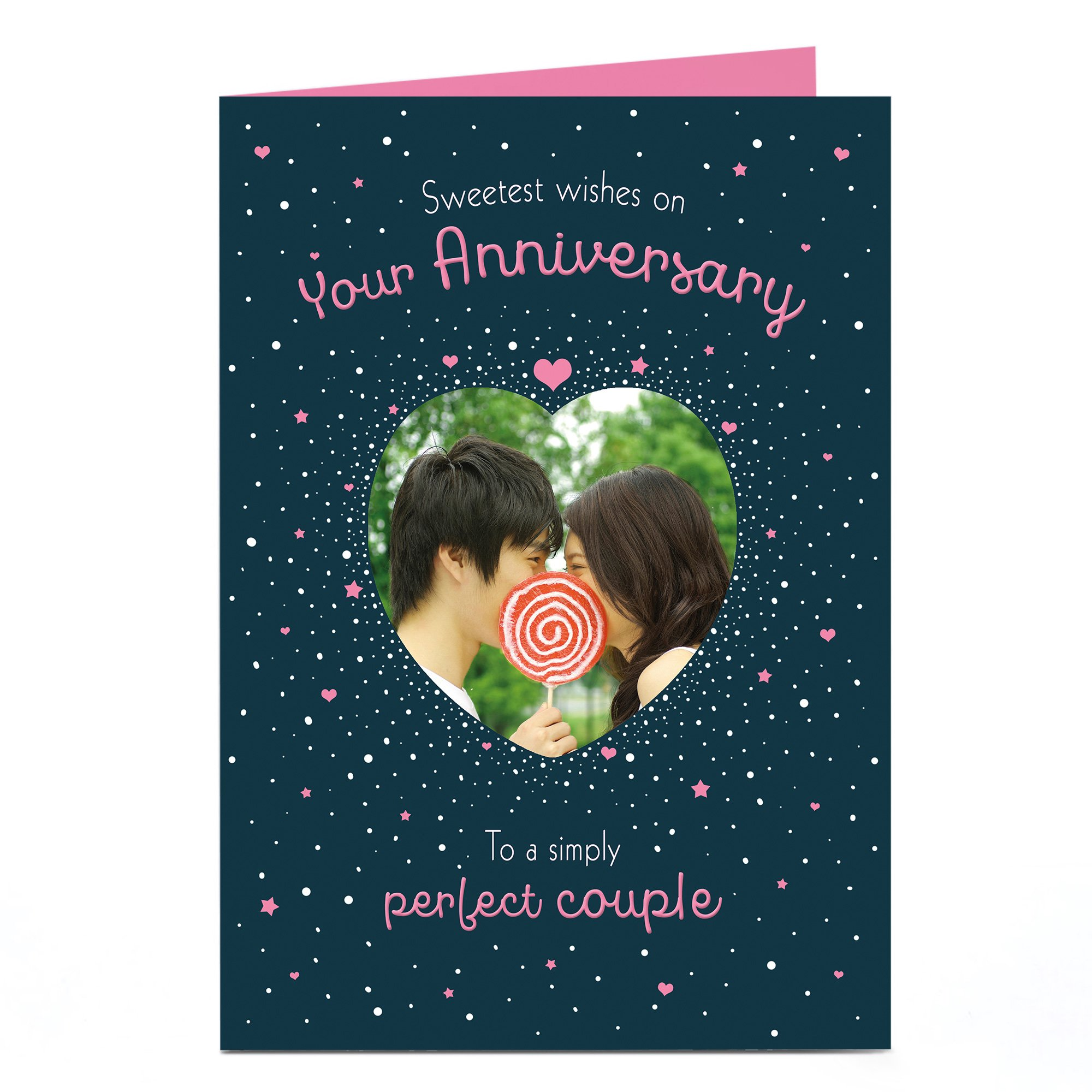 Photo Anniversary Card - Sweetest Wishes